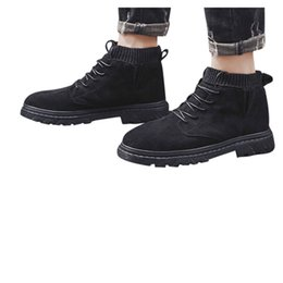 Lace ankLe booties online shopping - Men s Non slip Lace Up Mountaineering Sport Shoes Short Booties Tooling Student Large Size Low heels Boots sapato masculino
