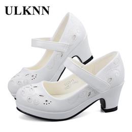 $enCountryForm.capitalKeyWord Australia - ULKNN Spring Autumn Girls Princess Shoes Leather Flowers Children High Heel Shoes For Girls Shoe Party Wedding Dress Kids