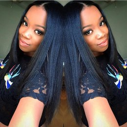Color For Straight Hair Australia - Top quality Malaysian silky straight with baby hair per plucked full lace &lace front human hair wigs natural color for black women