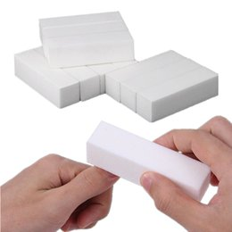 buff blocks NZ - 10pcs lot Nail Art Buffer File Block For Pedicure Manicure Buffing Sanding White Sponge Nail Art Tools