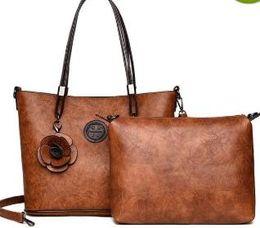Luxury Genuine Leather Tassel Handbag 2 Pcs Composite Bags Set Lady Shoulder  Crossbody Women Bag Female Wallet Clutch Bag m3 d43ebead71dc8