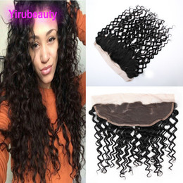 Wet curly closure online shopping - Water Wave X4 Lace Frontal With Baby Hair Lace Frontal Closures Wet And Wavy Curly Malaysian Human Hair Frontal