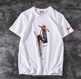 Wholesale 19 years of the latest classic fashion counter synchronization snowflake lightning printing men s t shirt