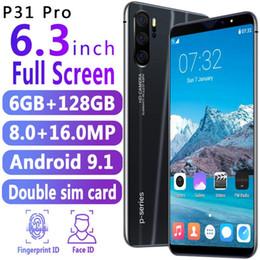 $enCountryForm.capitalKeyWord Australia - Goodphone P31 pro 6.3inch MTK6580p Unlocked phone face id octa core Android 1G Ram 16G Rom show 6G 128G with fingerprint