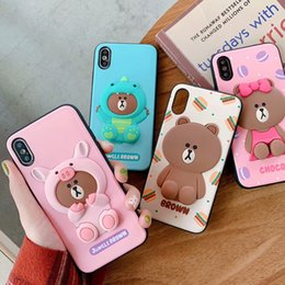 Cute 3d Animal Iphone Cases Australia - Matte Silicone 3D Cute Cartoon Animals Pattern Phone Cover Sports Rubber Frosted Back Case for iPhone XS MAX XR X 8 7 6 6S Plus