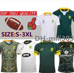 World teams online shopping - 2019 Japan world cup South Africa rugby Jerseyshirt thailand quality national team Springboks South African rugby jerseys shirts S XL