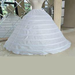 Ball Gown Wedding Petticoat Bridal Underskirt Crinoline 8 Hoop Tulle Puffy Undergarment Slip Wedding Dress Quinceanera Accessory
