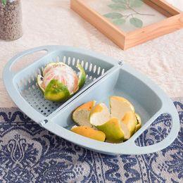 $enCountryForm.capitalKeyWord Australia - Kitchen Folding Vegetable Extractor Fruit Drainage Basket Plastic Strainer Storage Basket Dry Fruit Dish Kitchen Gadget Tools