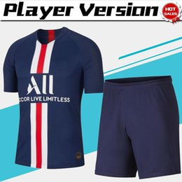 Chinese  Player version Kits Paris home Soccer Jerseys #7 MBAPPE 19 20 Men Soccer suit #10 NEYMAR JR #18 ICARDI football uniforms jersey+shorts manufacturers