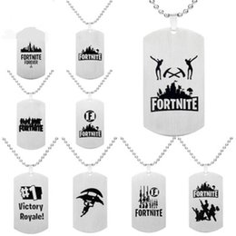 $enCountryForm.capitalKeyWord Australia - Pendant Necklace Black Stainless Steel Hot FPS Game Fans Souvenirs Gift Punk Style Men Women Necklaces Hot Fashion Jewelry