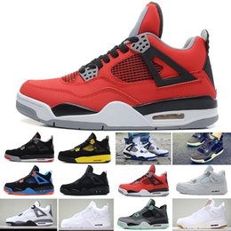 a602302cfbf 2019 With Box Travis 4 Cactus Jack 4s Mens Raptors Basketball Shoes 4s  White Cement Black Red 4 Superman Fashion Sneakers Sports Shoes