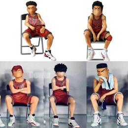 $enCountryForm.capitalKeyWord Australia - 2019 new Anime SLAM DUNK Sakuragi Hanamichi figure Rukawa Kaede Akagi Takenori Mitsui Hisashi action Figure sitting Model Toys