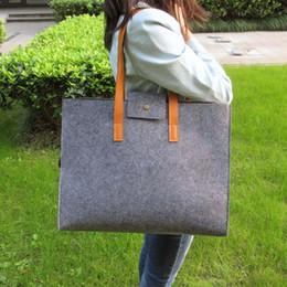 $enCountryForm.capitalKeyWord Australia - Grey Felt Tote Bag Shoulder Bag Lightweig Fashion Recycling Totes Woman Laptop Bag Vilten Tas Bolso Gris Mujer