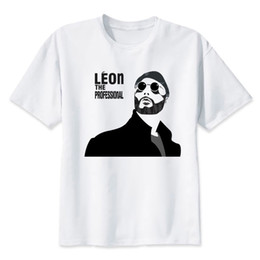 82fad132 Leon The Professional T Shirt Men Summer Fashion T-shirt Casual White Print  O-neck Print Male Men Top Tees Mmr454