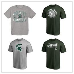 Discount logo t shirt top brand - 2019 NCAA Michigan State University Branded Men's Basketball Jerseys Fans Tops Tess Sport College T-Shirt Free Ship