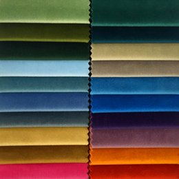 $enCountryForm.capitalKeyWord NZ - Brand New Modern Solid Knited Plain Velvet Soft Home Decorative sofa Fabric 100% Polyester 140cm Wide 60 colors 1meter lot drop shipping