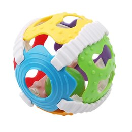 Wholesale Baby Teether Toys Kids Ball Fun Multicolor Activity Rattle Educational Toys Baby SoftToys
