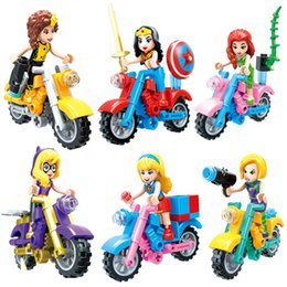 $enCountryForm.capitalKeyWord Australia - Super Hero Girl Supergirl Woman Bee girl Batgirl Poison Ivy She Hulk Mini Toy Figure With Motorcycle Building Block Brick Toy For Girl