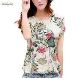 Korean cap fashion online shopping - Casual Loose Blouse Shirt Fashion Korean New Blusas Summer Cap Sleeve Womens Chiffon Blouses Ladies Shirts Floral Tops Xl