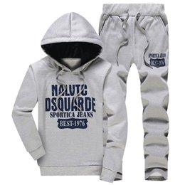 $enCountryForm.capitalKeyWord Australia - Left Rom Nice Fall New Men Fashion Boutique Printing Slim Hoodies Sweatshirts + Casual Pants   Male Sets Autumn Outfit Hoodies