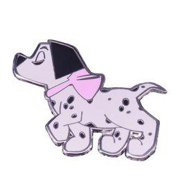 $enCountryForm.capitalKeyWord UK - Spotty dog lapel pin Dalmatian brooch cute animal badge black white art jewelry pet lovers gift kids best friends accessory