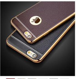 $enCountryForm.capitalKeyWord Australia - Luxury Ultra Thin 3D Litchi Leather Grain Phone Case For iPhone 7 8 5 5S SE 6 S 6S Plus X Plating Soft Silicone Back Cover Capa