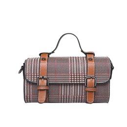 dbef661a7693 Plaid Women Handbags Hot Luxury Boston Pillow Bag Women s Travel Leisure Shoulder  Messenger Bag Fashion High Quality Women Bags