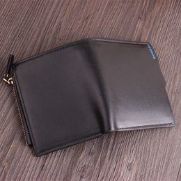 Three fold walleTs online shopping - Short Wallets Moneybag Leather Zipper Coin Purse Fold Card Holders Colorful Man Fashion Hot Sale br UU