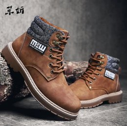 $enCountryForm.capitalKeyWord Australia - 2019 New Fashion Men's Business Casual Martins Ankle Work High-top Hiking Shoes Warm Snow Boots