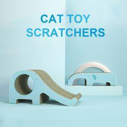 $enCountryForm.capitalKeyWord Australia - Pet cat scratch board corrugated paper grinder elephant slide wear-resistant cat toys pet supplies kitten mat scratcher
