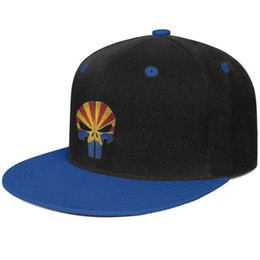 $enCountryForm.capitalKeyWord Australia - Punisher skull american flag Blue for men and women hip-hop flat brim cap cool designer custom cool vintage cute best original flat brim ha