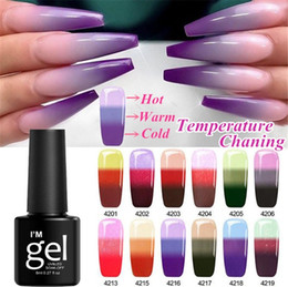 Red nail aRt diy online shopping - 1Pc Layers Thermal Change Color Gel Nail Polish Colors Thermal UV Gel Polish Glitter Varnish Nail Art DIY