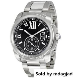 $enCountryForm.capitalKeyWord NZ - WatchesLuxury High Quality New In Box Calibre De Black Dial Stainless Steel Automatic Machinery Watch W7100016 Men S Sport Wrist