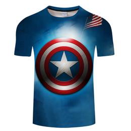 $enCountryForm.capitalKeyWord Australia - 2019 Fashion Men t shirt 3D Printed tshirt Distressed Shield Logo Marvel Comics Adult Shirt S-6XL