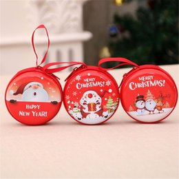 travel cable organizer bag 2019 - Mini Coin Christmas Santa Storage Bag Money Earphone Box USB Cable Coin Holder Zipper Travel New Year Gifts Organizer Su