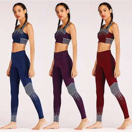 ff307b00ab Free Shipping Hot Sexy Black Pink Mesh Yoga Sets Women s Yoga Fitness Crop  Top+ Pants Leggings Sportwear Gym Workout Sports Wear Yoga Set