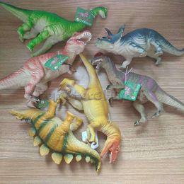 Wholesale Jurassic Rex Dinosaur Model 6 Models Large Solid Simulated Dinosaur Toys 24cm Tyrannosaurus vocal pinch called children's gift