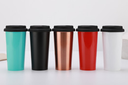 mug seal lids UK - Customized Stainless Steel Tumbler Double Wall Insulated Travel Mug Coffee Mug Sealed Portable Travel Outdoor Home Indoor
