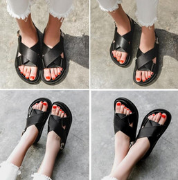 $enCountryForm.capitalKeyWord Australia - Net red sandals female 2019 summer new thick-soled women's shoes Korea super fire flat cross with Roman sandals women