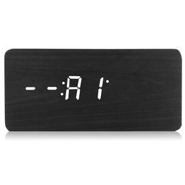 $enCountryForm.capitalKeyWord UK - LED Wooden Alarm Clock Time Temperature Calendar Display