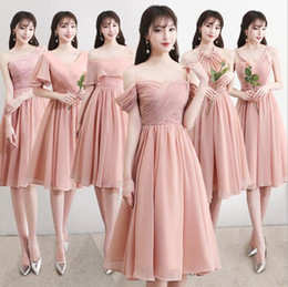 $enCountryForm.capitalKeyWord NZ - 6 Style Women Mini Women Wedding Party Dress A Line Elegant Ball Gown Backless Bridesmaid Homecoming Graduation Party Dress XS-3XL DHL Free