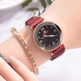 $enCountryForm.capitalKeyWord Australia - 2019 Women Mesh Band Watches Fashion Starry Sky Magnet Buckle Quartz Wristwatch Elegant Women Watches Bracelet Watch Reloj Mujer