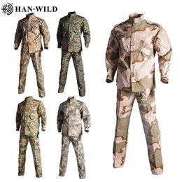 12 Forças Suit ACU cores Homens do Exército Uniforme Militar tático combate shirt Brasão Pant Set Camuflagem Militar Soldado Roupa 2020 em Promoção