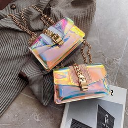 $enCountryForm.capitalKeyWord Australia - Fashion Laser Holographic Bags For Women 2019 Luxury Handbags Women Bags Designer PVC Jelly Transparent Chain Purse And Handbags