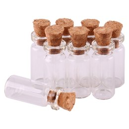 craft bottles corks wholesale Australia - 100pcs 10*24*5mm 0.8ml Mini Transparent Glass Bottles Tiny Jars Vials With Cork Stopper DIY Craft