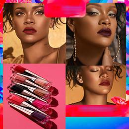 Rihanna makeup lipstick 13 Colors Liquid Lipstick UNCENSORED lip gloss base Matte Lipgloss Lip stick Red Velvet Cosmetics Lip beauty on Sale