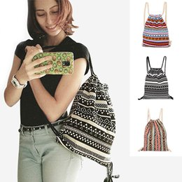 $enCountryForm.capitalKeyWord Australia - Fashion Pumping Rope Backpack Ethnic Style Digital Printing Lady Bundle Mouth Package Double Shoulder Bag Fa$b Women Bag