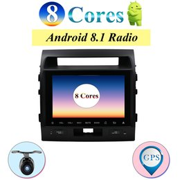 Vente en gros Lecteur multimédia multimédia avec autoradio Octa Cores Navigation GPS Android 8.1 pour Toyota Land Cruiser LC200 stéréo Wifi DAB OBD