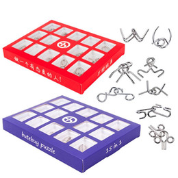 Brain teaser puzzle toys metal online shopping - etal puzzle iq Set D Metal Puzzle Kids Montessori Learning Education Materials Toy IQ Mind Brain Teaser Puzzles for Adults Childre