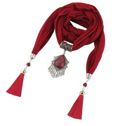 $enCountryForm.capitalKeyWord Australia - 2019 Fashionable new tassel pendant lady chiffon scarf jewelry necklace scarf head scarf free shipping
